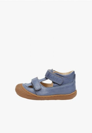 NATURINO PUFFY - Nappa leather sandals - Light blue