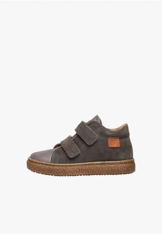 NATURINO ALBUS VL - Nappa leather and suede sneaker - Charcoal grey